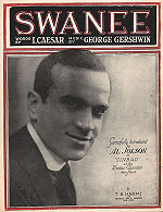 "sheet music: ""Swanee"" 1919 Al Jolson on cover"